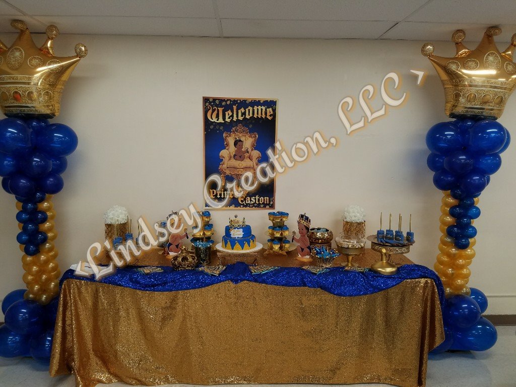 Prince Gold and Navy Baby Shower - Photo Courtesy of Lindsey Creation, LLC - Florissant, MO