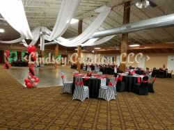 Red and Black Party Theme - Photo Courtesy of Lindsey Creation, LLC - Florissant, MO