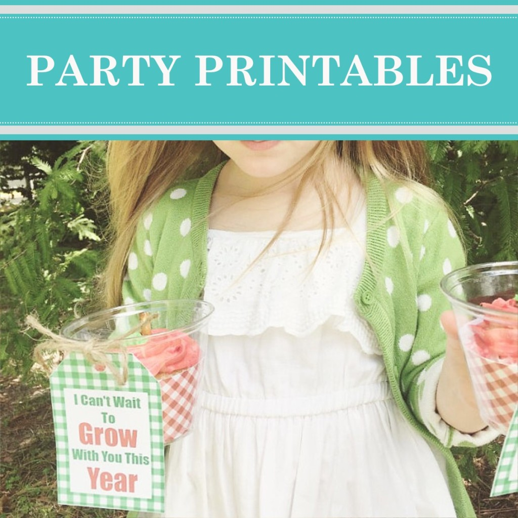 Find quick and easy party decorations that you can print at home on the fly, browse our portfolio of party printables, designed by Cameo Party Designs.