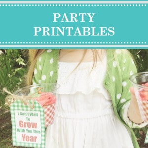 DIY Party Printables by Cameo Party Designs.  Find party printables to make your party or event one-of-a-kind.  Party printables available in instant downloads, personalized and custom designs.