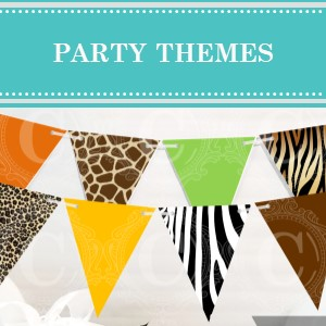 Over 100 Party Theme Ideas on Cameo Party Designs.  Find over 100 party themes to help spark your imagination and get your creative juices flowing.